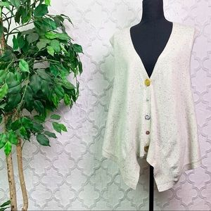 Anthropologie Moth Mixed Button Sweater Vest